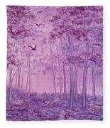Purple Woods Fleece Blanket