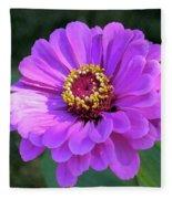 Purple Zinnia  Fleece Blanket