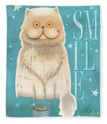 Purr, Smile Cat Fleece Blanket