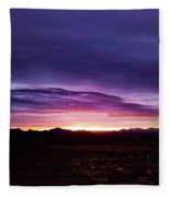 Puruple Sunset Fleece Blanket