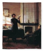 Pushkin In The Village Mihaylovskoye Fleece Blanket