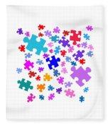 Puzzle Pieces Fleece Blanket
