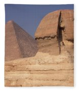 Pyramid And Sphinx Fleece Blanket