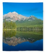 Pyramid Island In The Pyramid Lake Fleece Blanket