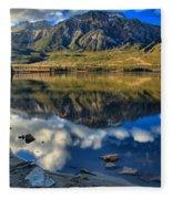 Pyramid Lake Resort Reflections Fleece Blanket