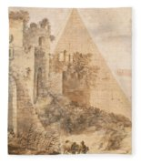 Pyramid Of Cestius And The Porta San Paolo, Rome Fleece Blanket