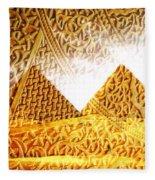 Pyramids Fleece Blanket