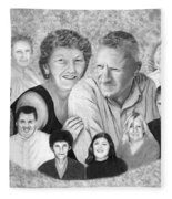 Quade Family Portrait  Fleece Blanket
