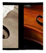 Quadriptych Of Musical Curves Fleece Blanket
