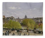 Quai Du Louvre In Paris Fleece Blanket
