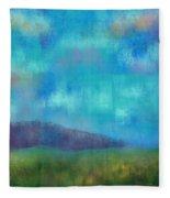 Quaint Countryside Fleece Blanket