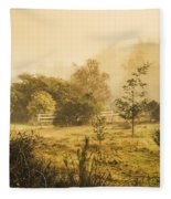 Quaint Countryside Scene Of Glen Huon Fleece Blanket