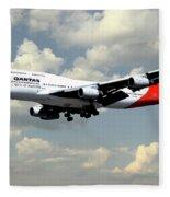 Quantas Boeing 747 Fleece Blanket