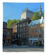 Quebec City 46 Fleece Blanket