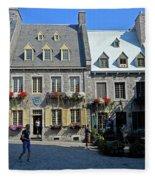 Quebec City 54 Fleece Blanket
