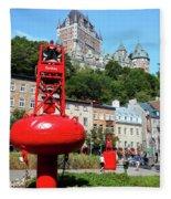 Quebec City 58 Fleece Blanket