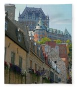 Quebec City 62 Fleece Blanket