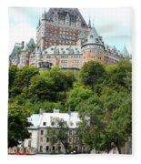 Quebec City 68 Fleece Blanket