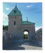 Quebec City 73 Fleece Blanket