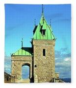 Quebec City 74 Fleece Blanket
