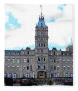 Quebec City 78 Fleece Blanket