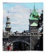 Quebec City 81 Fleece Blanket