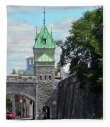 Quebec City 82 Fleece Blanket
