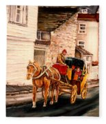 Quebec City Carriage Ride Fleece Blanket