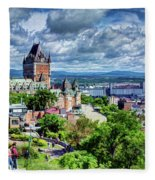 Quebec City Overlook Fleece Blanket