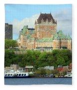 Quebec City Waterfront 6324 Fleece Blanket