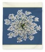 Queen Anne's Lace Flower Fleece Blanket