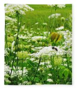 Queen Anne's Lace Fleece Blanket