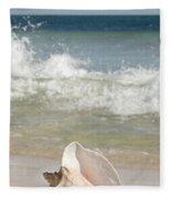 Queen Conch On The Beach Fleece Blanket