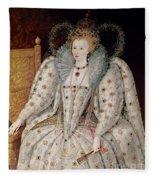 Queen Elizabeth I Of England And Ireland Fleece Blanket