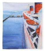 Queen Mary From The Bridge Fleece Blanket