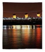 Queen Mary Panorama  Fleece Blanket