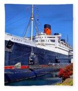 Queen Mary Ship Fleece Blanket