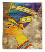Queen Of Ancient Egypt Fleece Blanket