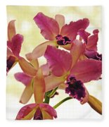 Queen Of Orchids Fleece Blanket
