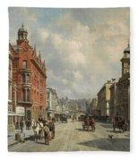 Queen Street, Aukland Fleece Blanket