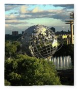 Queens New York City - Unisphere Fleece Blanket