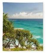 Queensland Coastline Fleece Blanket