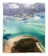 Queensland Island Bay Landscape Fleece Blanket