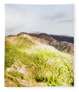 Queenstown Tasmania Wide Mountain Landscape Fleece Blanket