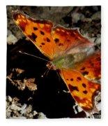 Question Mark Butterfly Fleece Blanket