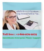 Quickbooks Enterprise Support To Help You Use A Flawless Accounting Program Fleece Blanket