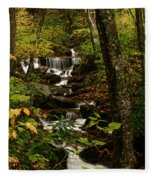 Quiet Autumn Stream Fleece Blanket