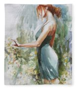 Quiet Contemplation Fleece Blanket