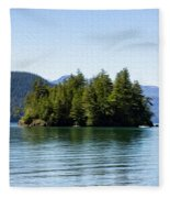 Quiet Day At The Lake - Digital Oil Fleece Blanket