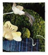 Quiet Garden Fleece Blanket